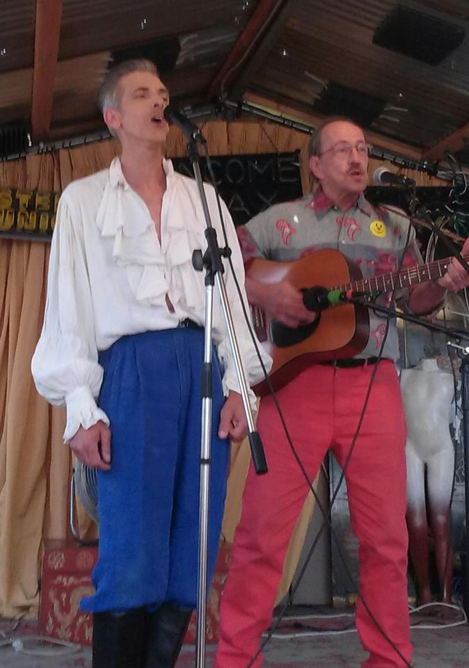 Robert Word and Griffin singing.