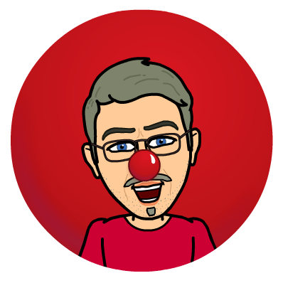Griffin cartoon wearing red nose.