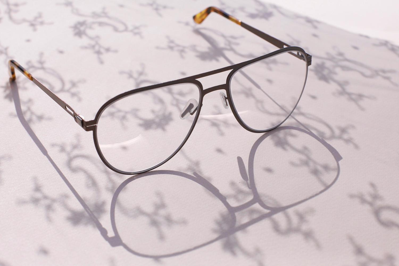 Custom aviator prescription eyeglasses
