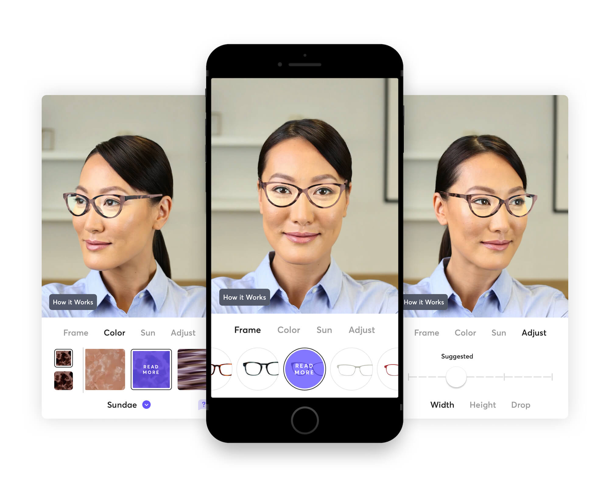 Bespoke eye glasses fitting in Topology iPhone app