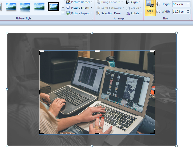 PowerPoint tool - cropping