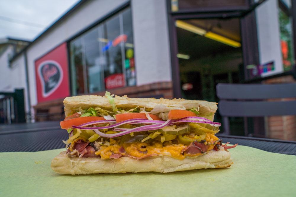 Sandwich at Roxie Deli and Barbecue in Sacramento, CA