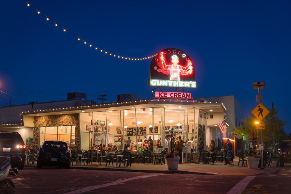 Gunther's Ice Cream in Sacramento California