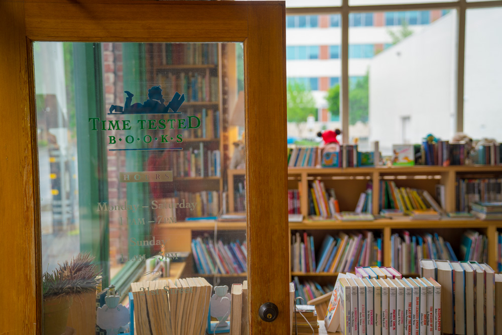 Entrance of Time Tested Books in Sacramento, CA