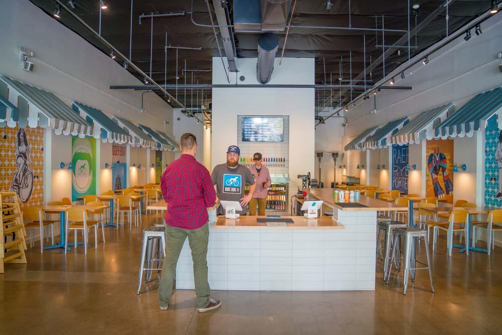 Interior of Bike Dog Brewing Company in Sacramento, CA