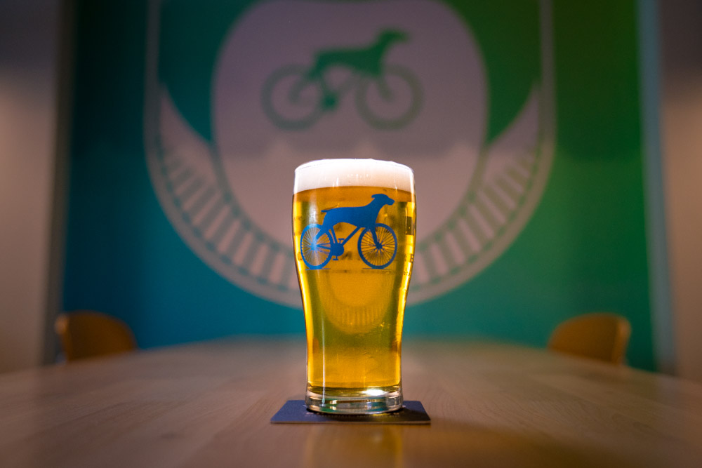 Cold beer at Bike Dog Brewing Company in Sacramento, CA