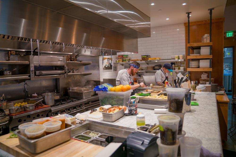 Kitchen of Canon restaurant in Sacramento, CA