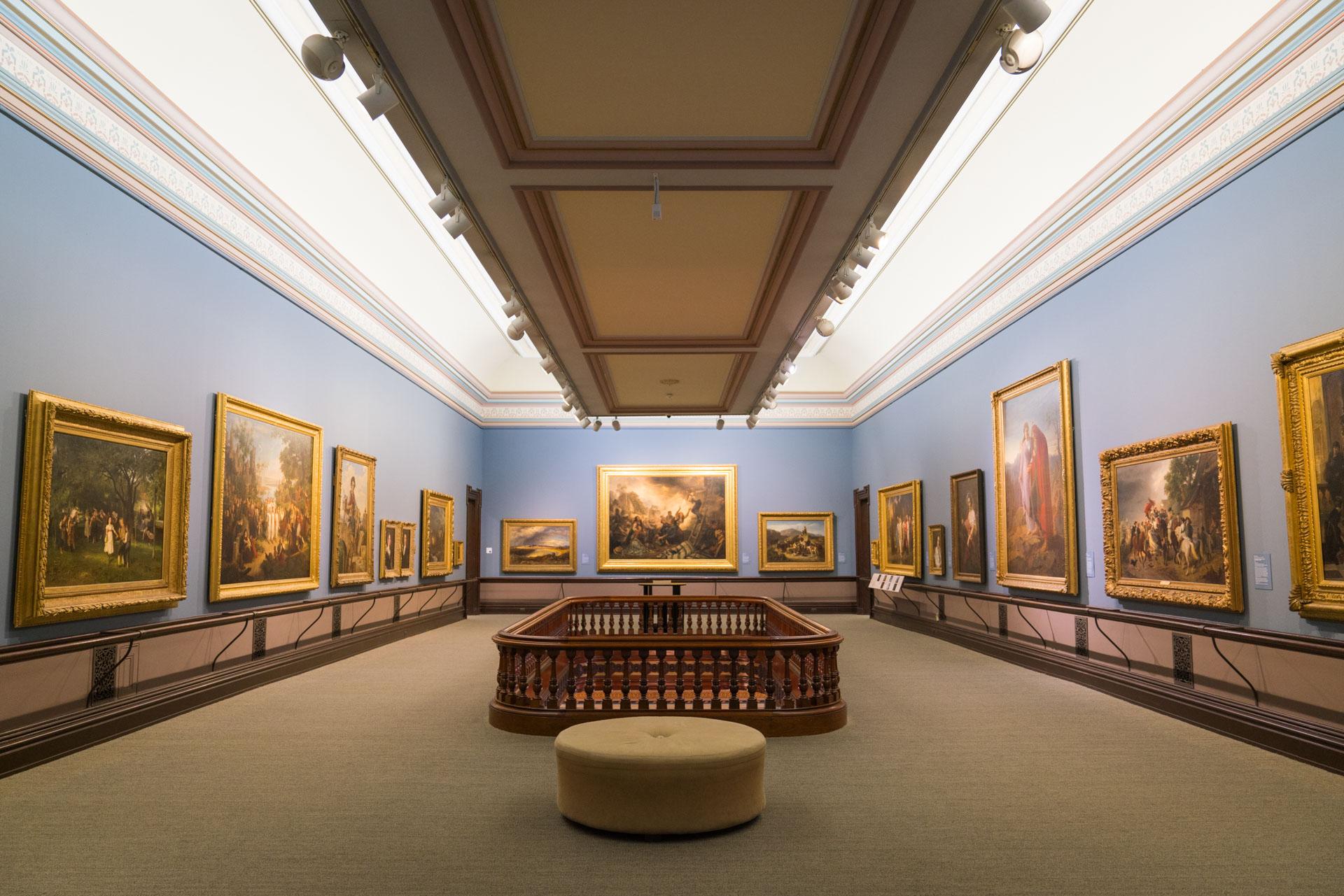 Interior of Crocker Art Museum in Sacramento CA