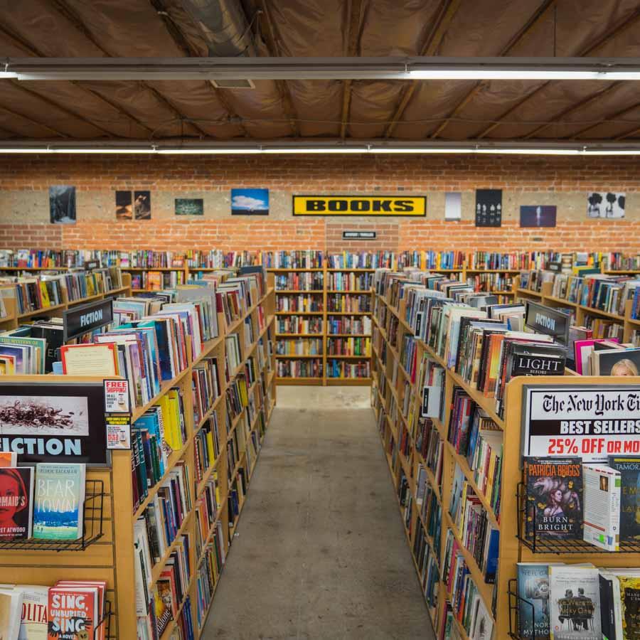 Interior of Dimple Records in Sacramento, CA