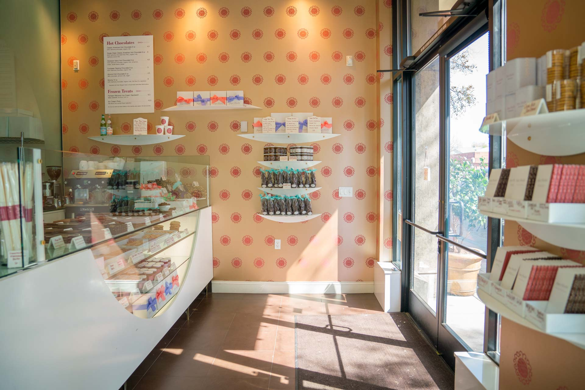Interior of Ginger Elizabeth's Chocolates in Sacramento California