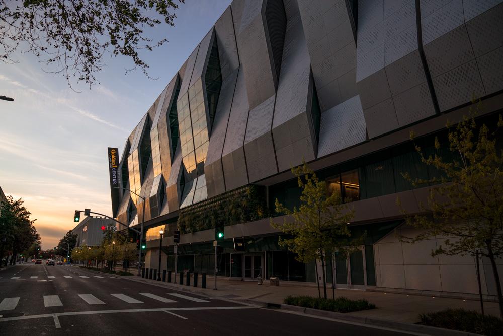Exterior of Golden 1 Center in Sacramento CA