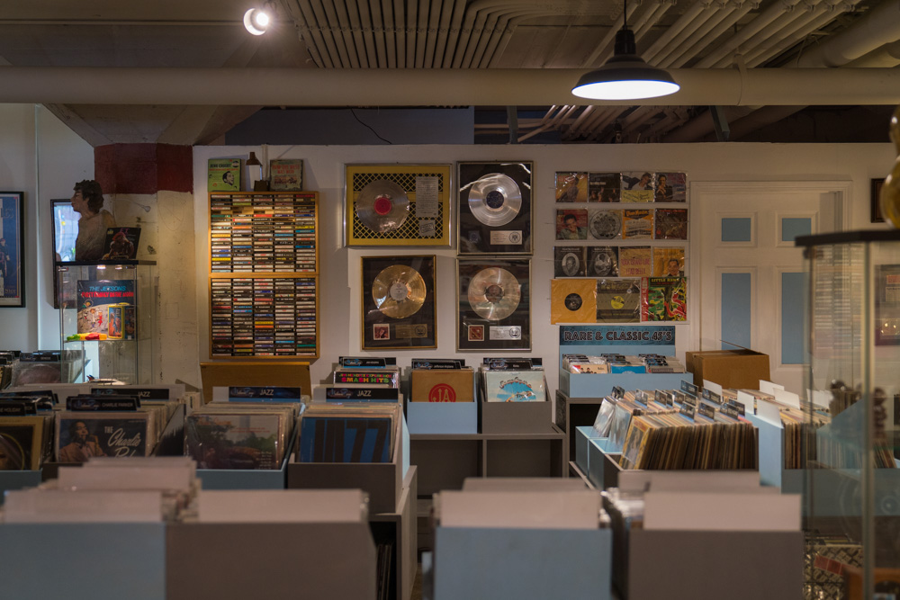 Interior of Kicksville Vinyl & Vintage in Sacramento, CA