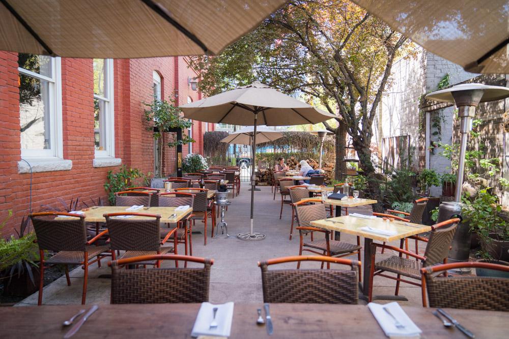 Patio at Mulvaney's B&L in Sacramento, CA