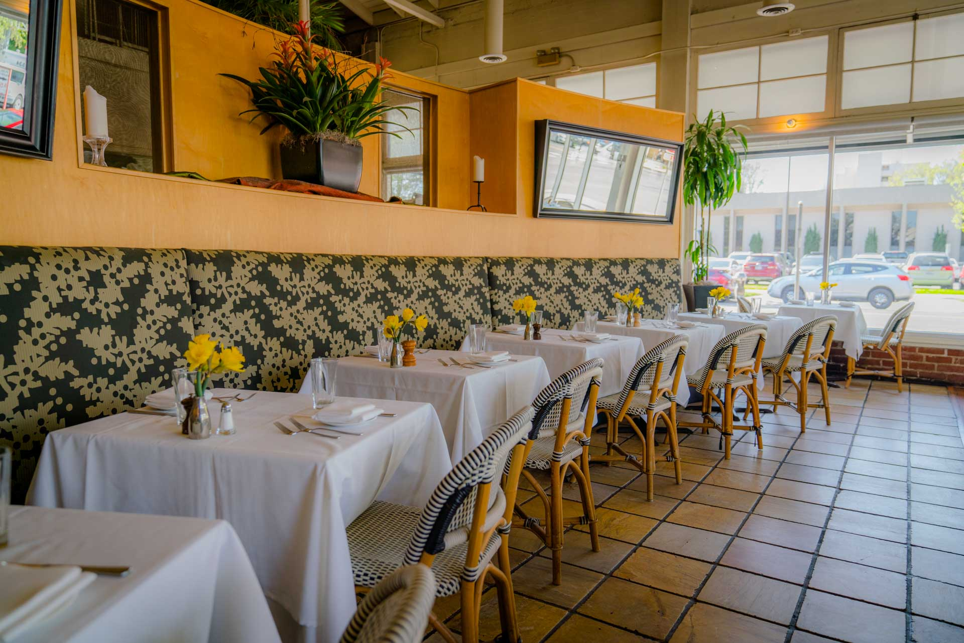 Interior of The Waterboy, a farm to fork restaurant in Sacramento, CA