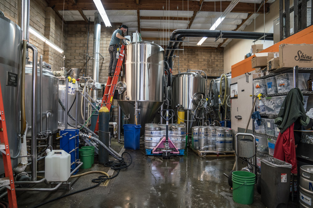 Behind the scenes of Track 7 Brewing in Sacramento, CA