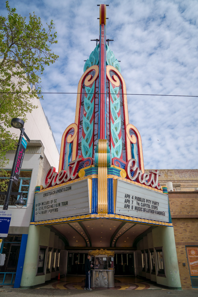 Crest Theatre is a local must in Sacramento for music