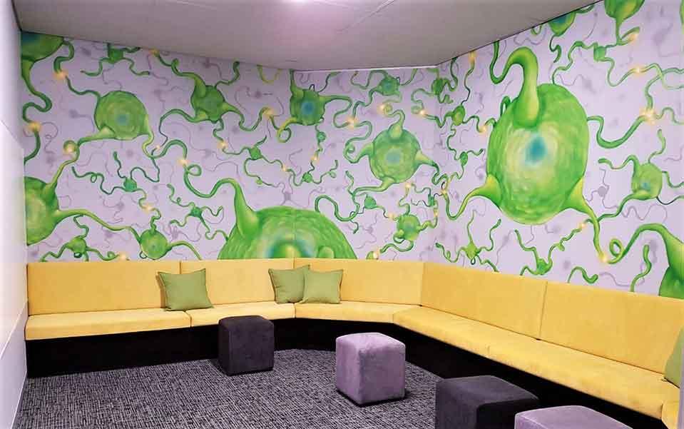 neuron think thank brain box murals innovation room wall art