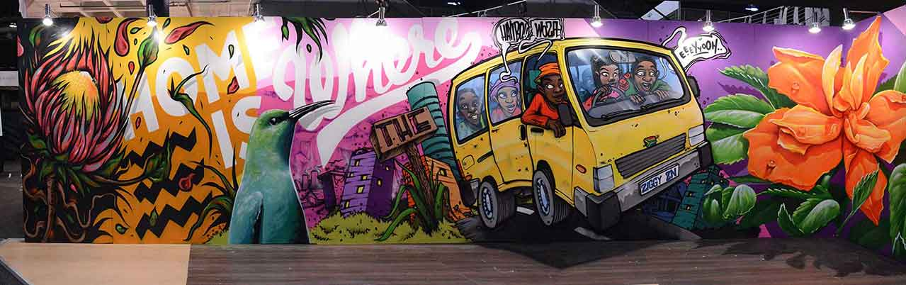 south african taxi graffiti mural zesta