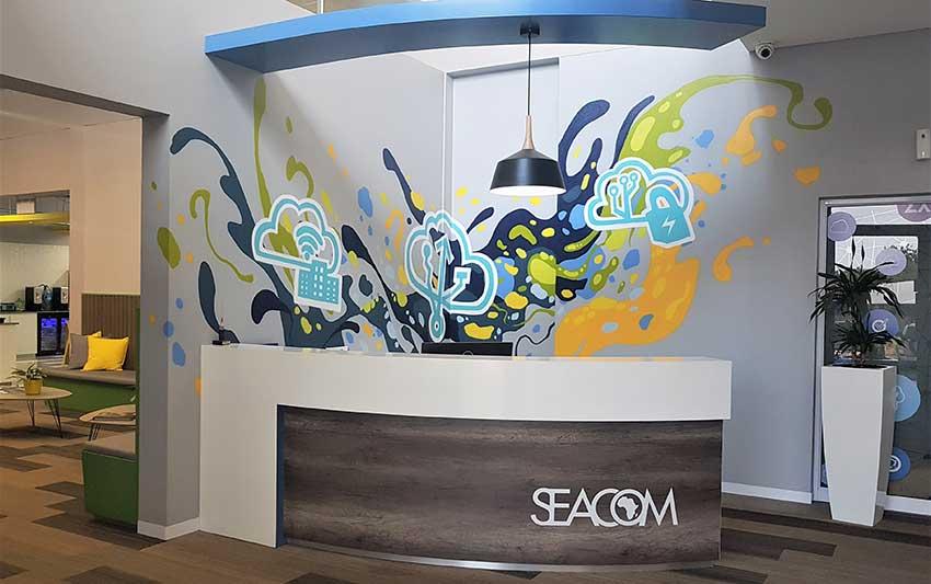 interior design decor wall art mural for corporate reception foyer