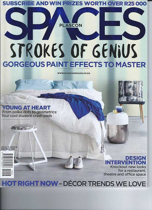 Plascon Spaces magazine cover