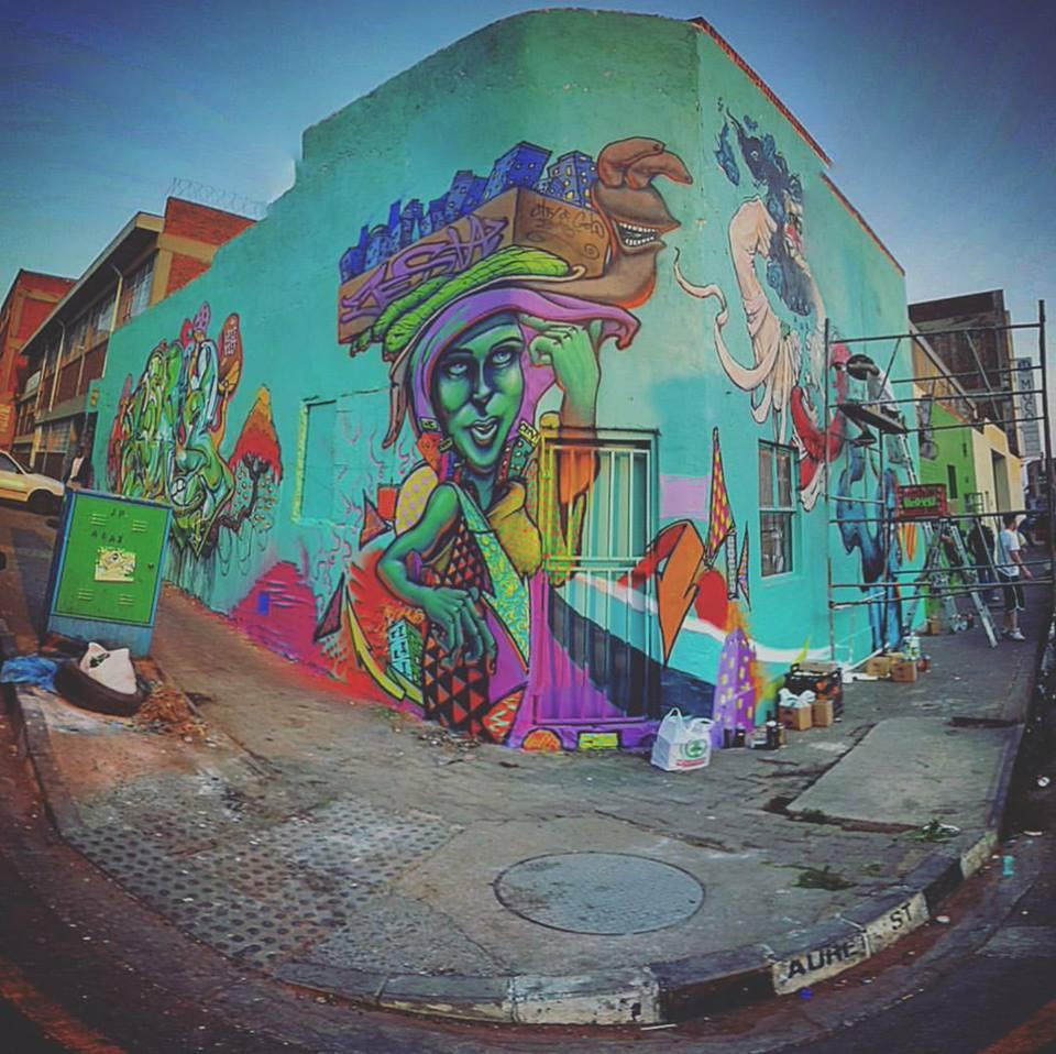 City of Gold 2015 Urban Art Festival in Johannesburg