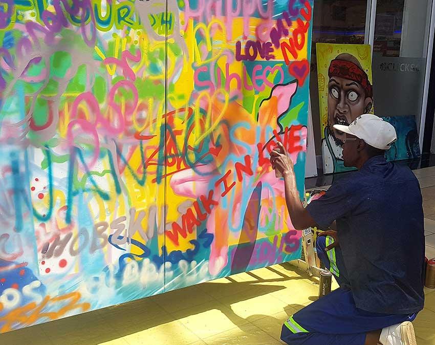 Holiday graffiti workshops