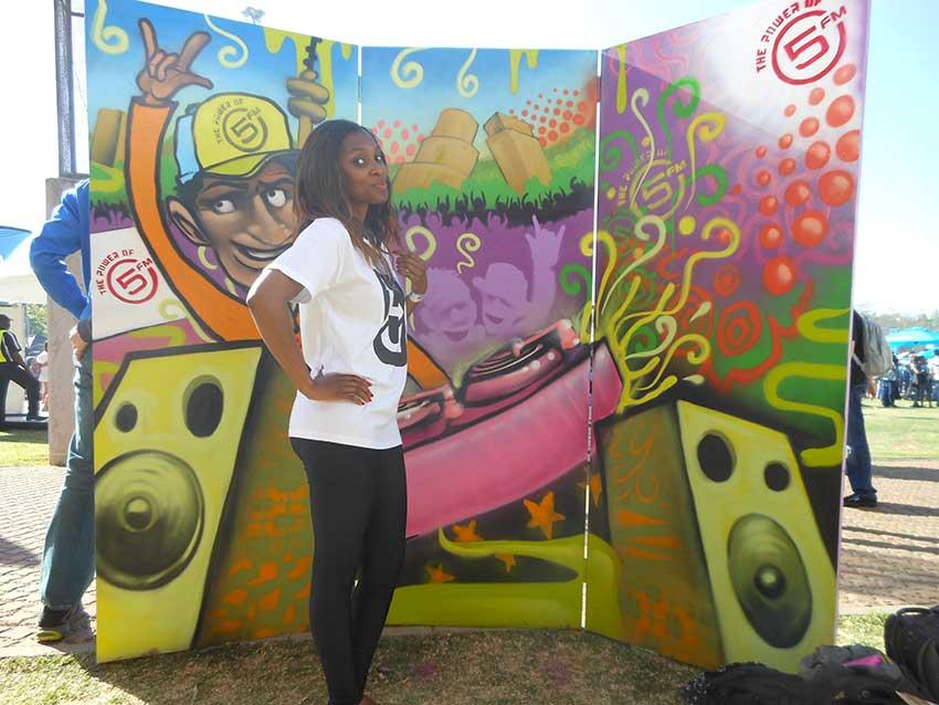 Custom Selfie Photo booth for 5FM - I Love JOZI (Joburg) Festival