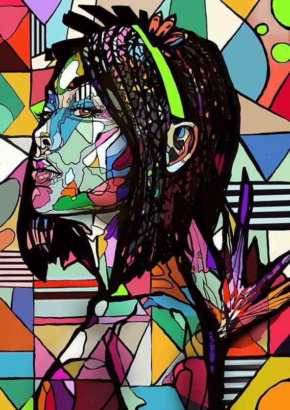 Street art paintings on canvas, graffiti art on canvas, Portrait Painters for hire