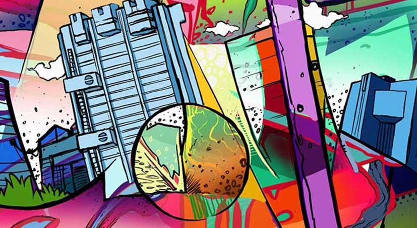 Muur schilderij von straat kunstenaar Zesta