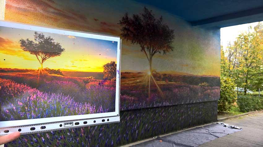 Berlin wall mural painting by Graffiti Artist from Johannesburg, Anser91