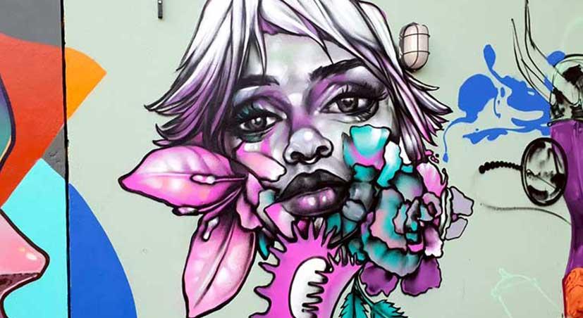 Street art muur schilderij kunstenaar Page33 wall mural