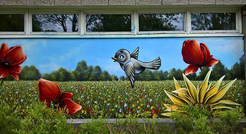 Landscape wall mural painting by Street Artist Anser91 from Johannesburg