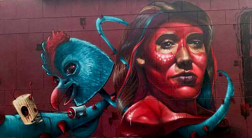 Graffiti in Johannesburg painted by street artist Anser91 for City of Gold 2018