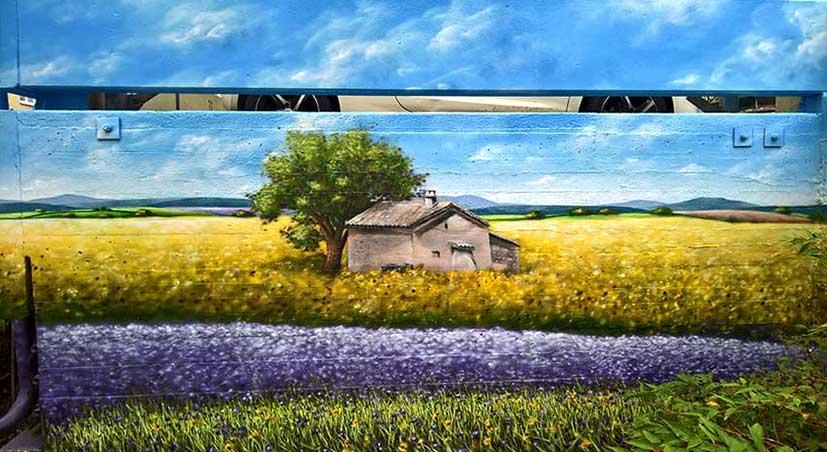 Landscape mural painting by Unity Murals Street Artist Anser91