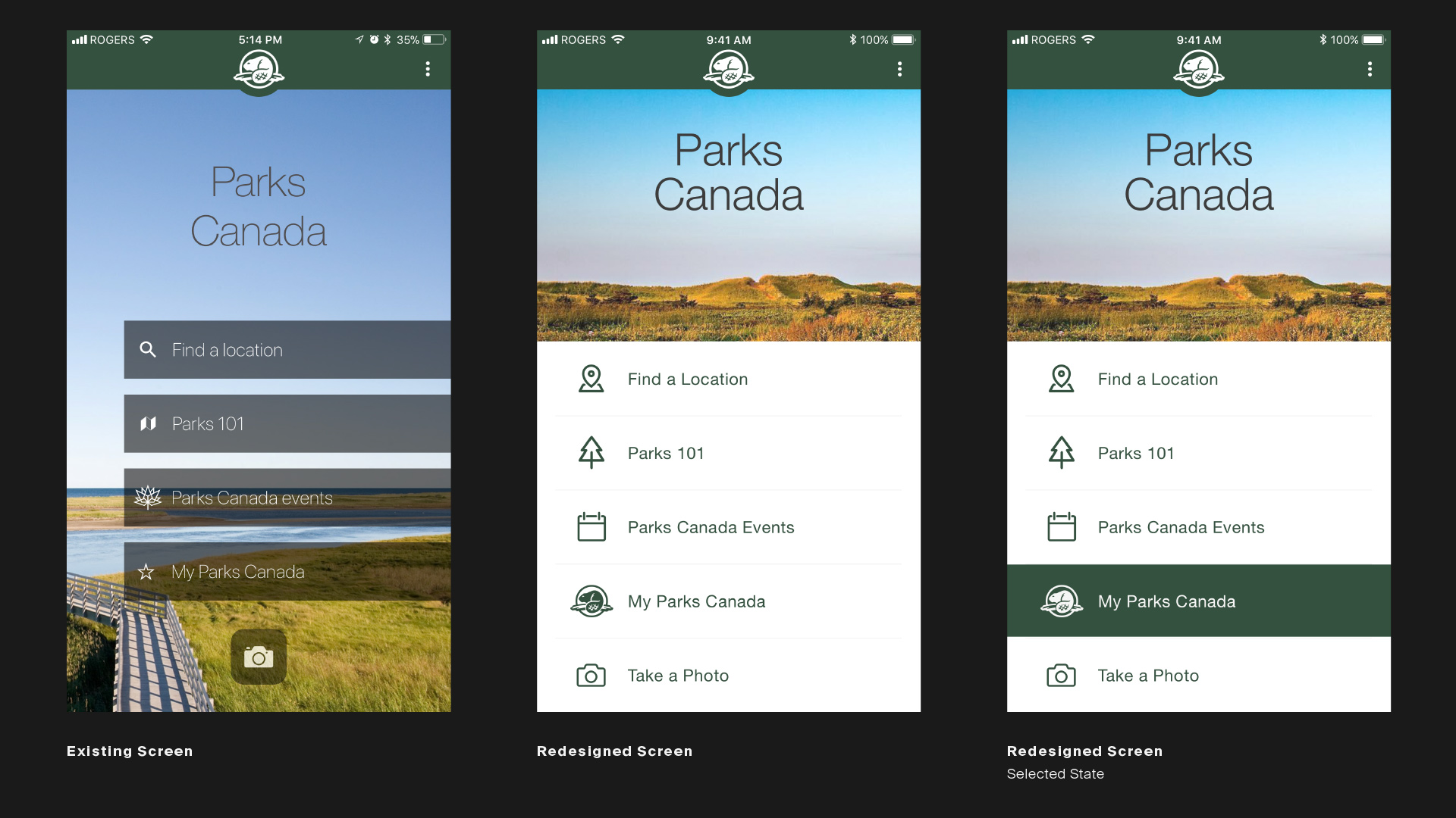 Parks Canada Redesign — Timothy Mandody