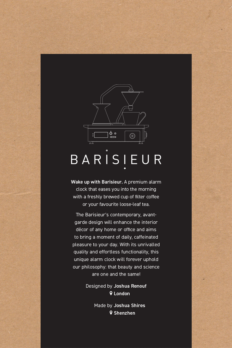 Image of work completed for Barisieur