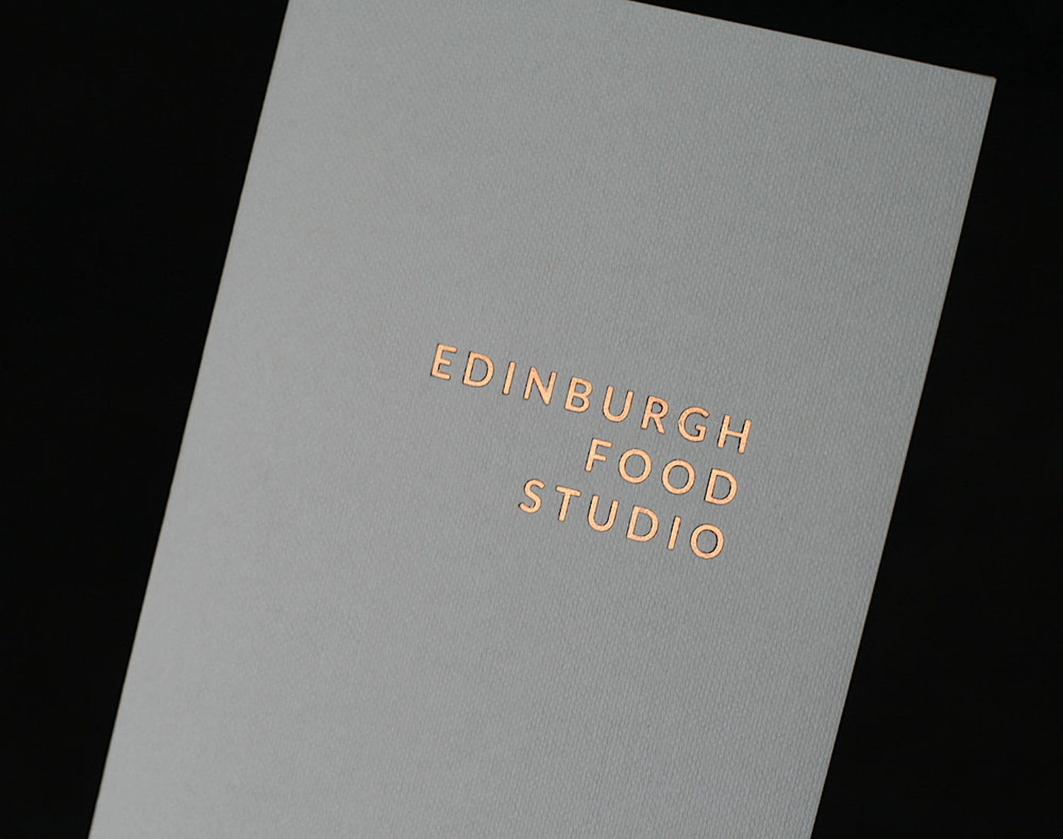 Edinburgh Food Studio menu cover