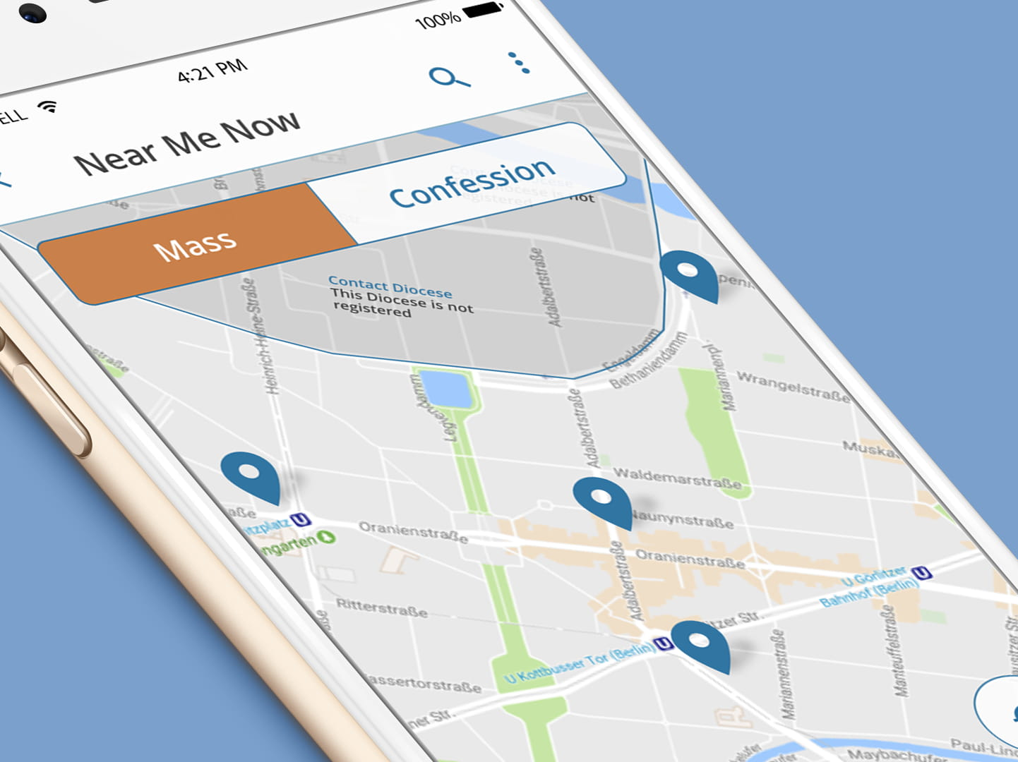 Catholic App example screen