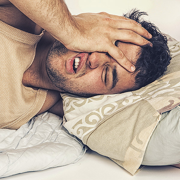 Photo of Man appear to not sleep well