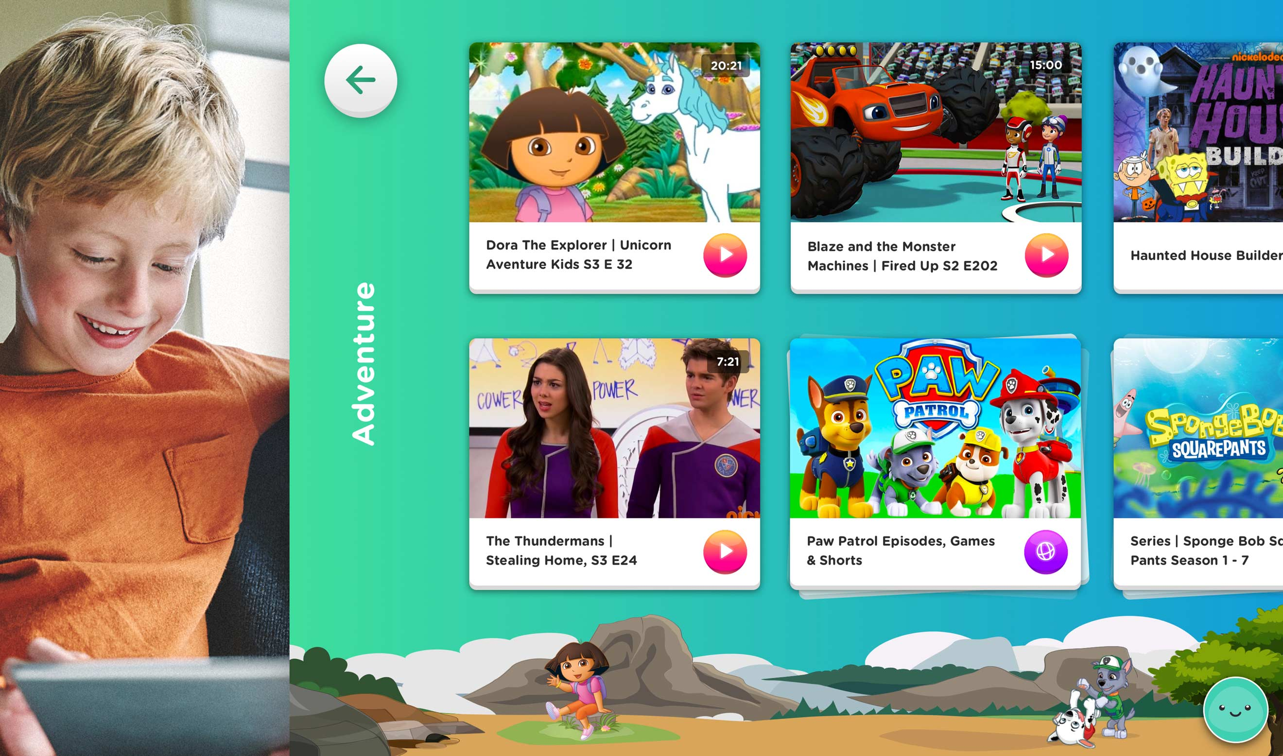 Nickelodeon Adventure Screen