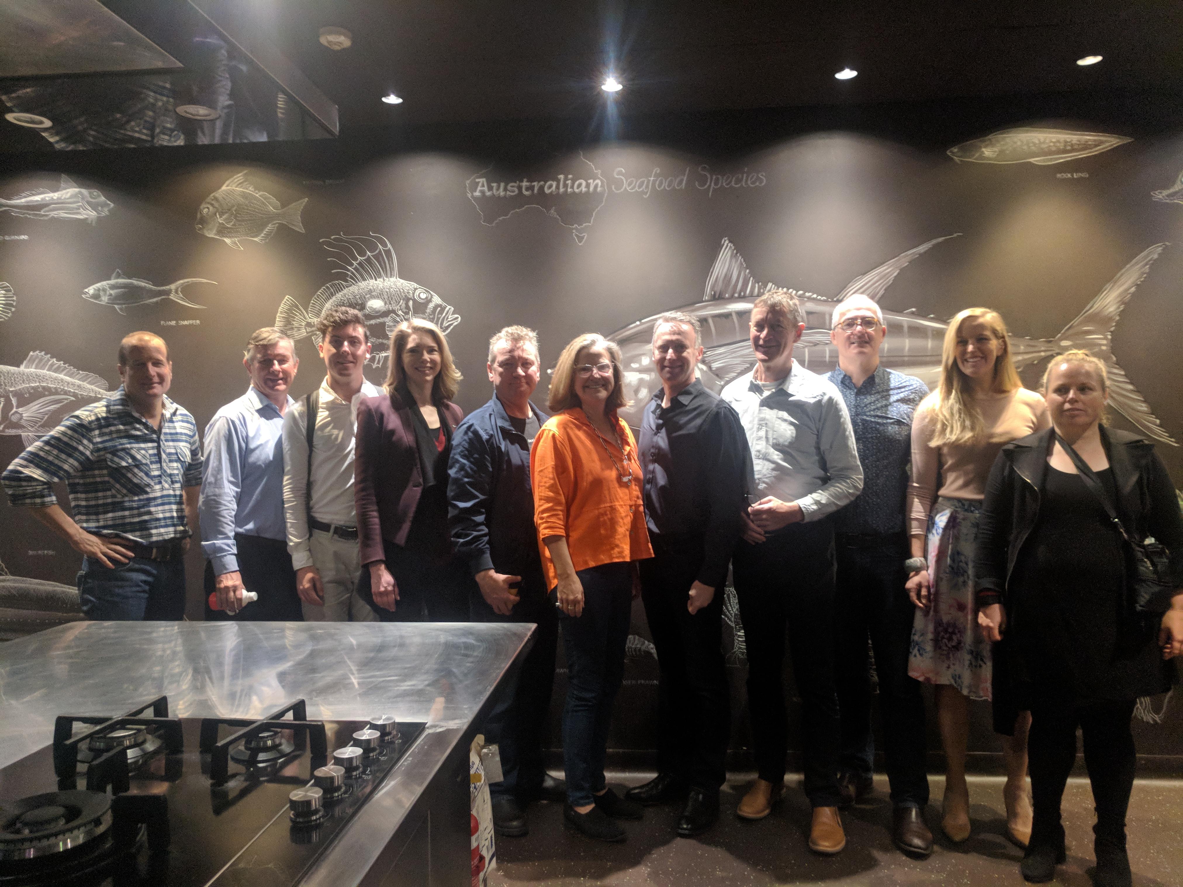 Food Agility team pose in the Sydney Seafood School