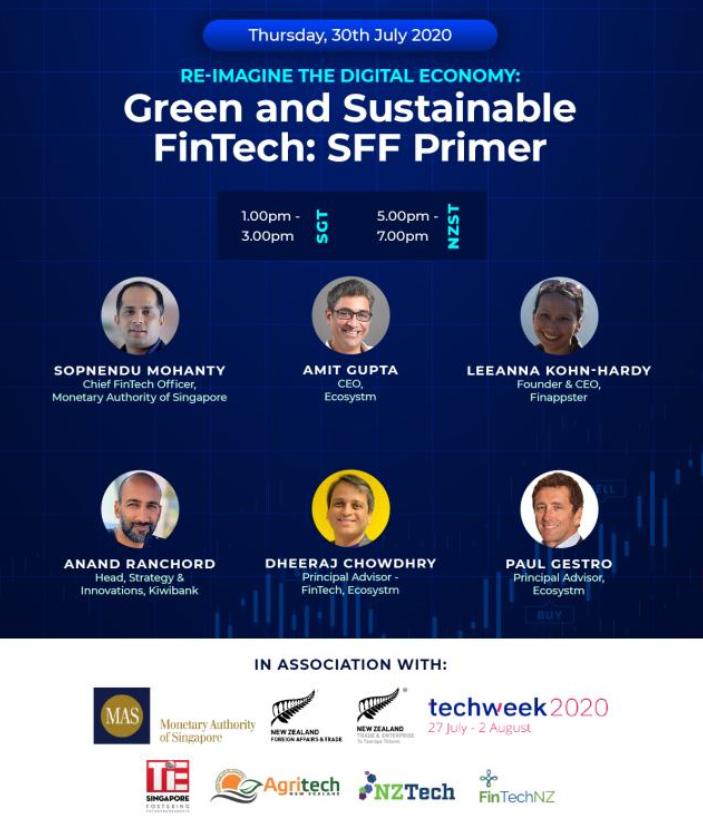 NZ Techweek 2020 webinar on Green and Sustainable FinTech