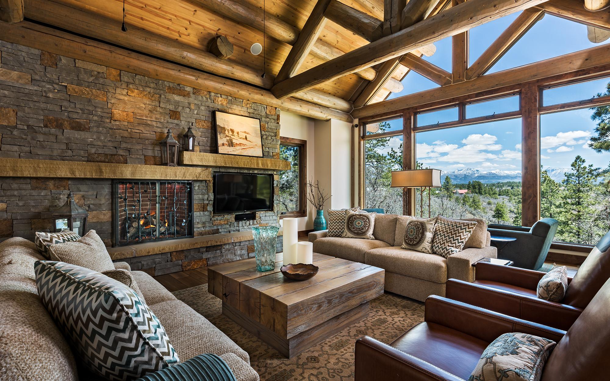 Madeen Interior Design Contemporary Log Home