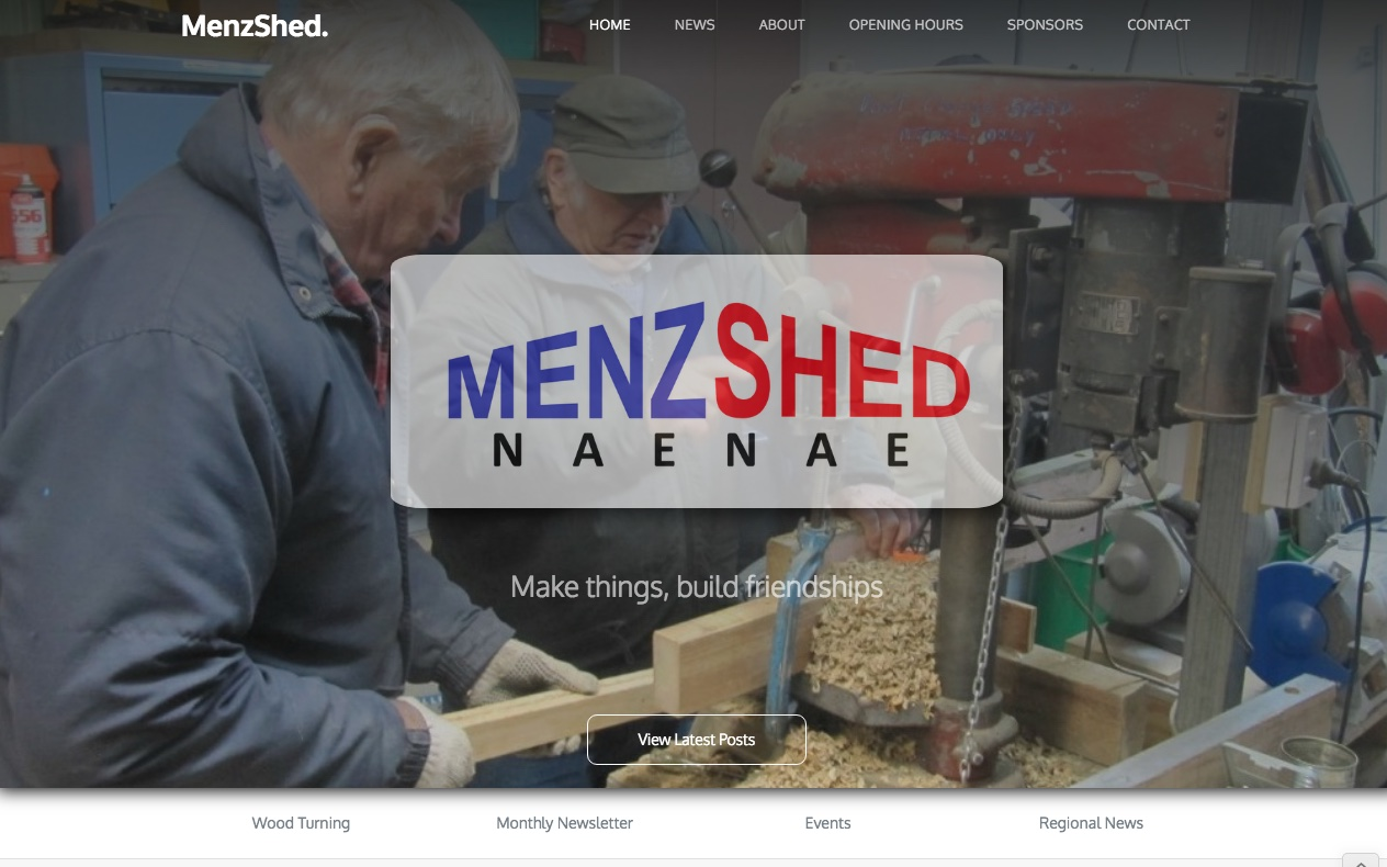 MenzShed home page