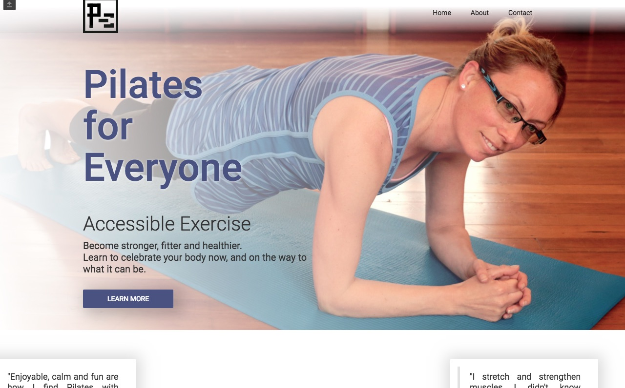 Pilates for Everyone home page