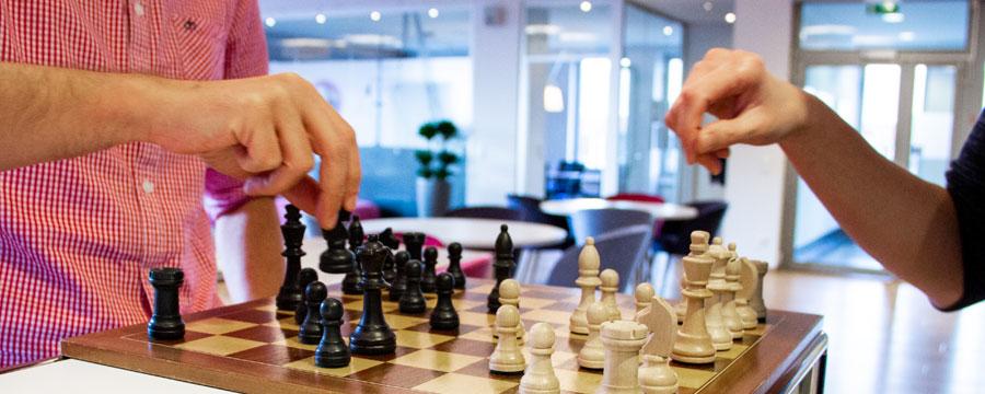 Bei LINK Mobility arbeiten einige Schach-Enthusiasten. In der
