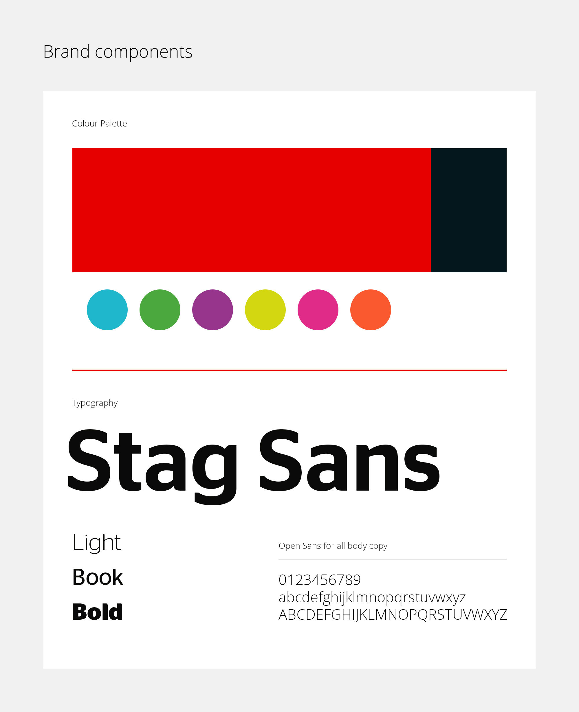 Which? brand colours and fonts