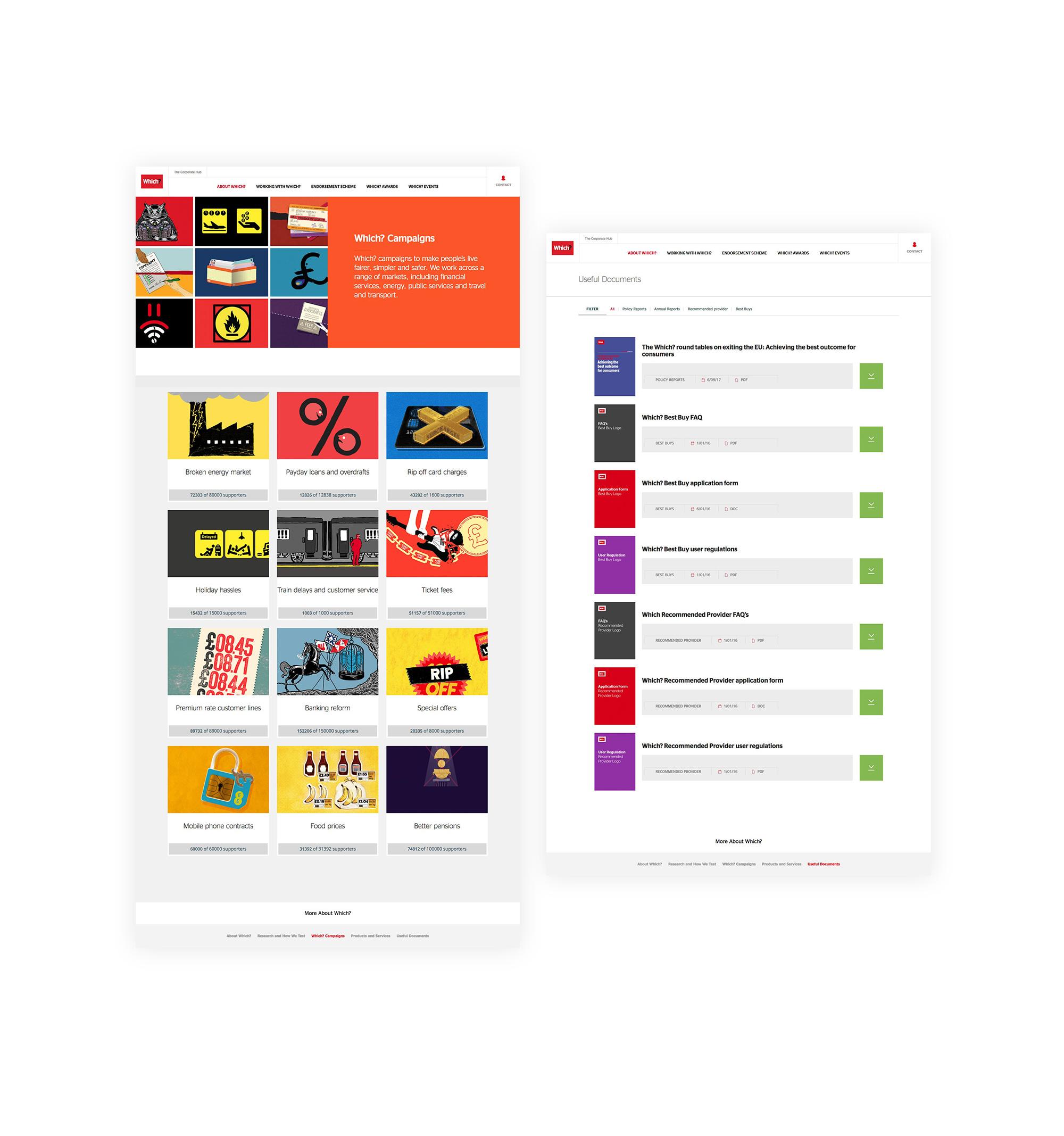 desktop website design and user interface by Bravedog