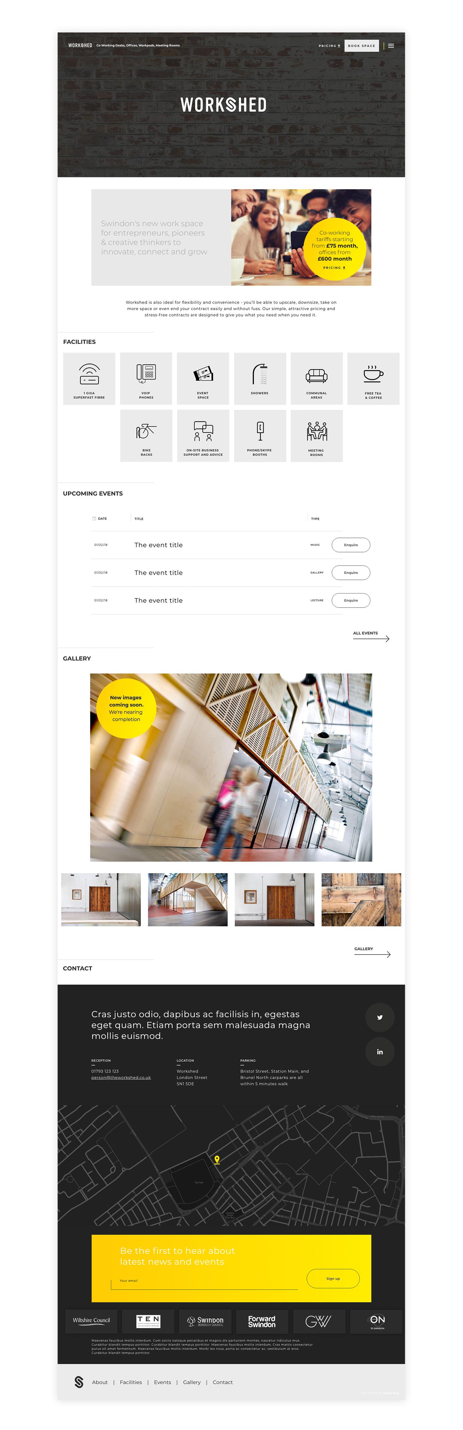 Bravedog designed the Workshed website