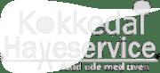 kokkedal haveservice logo hvid